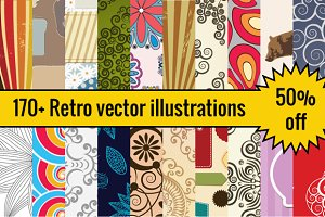 170+ Retro vector illustrations