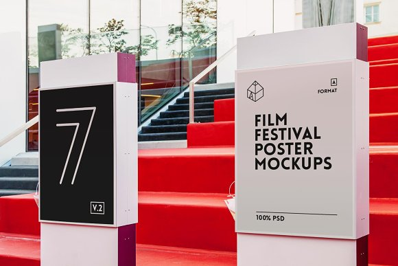 4 Film Movie Theatre Poster Mock Ups Product Mockups Creative Market