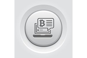 Bitcoin Chat Icon.