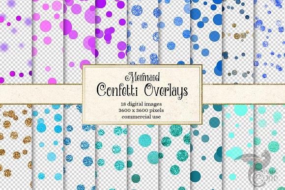 Mermaid Confetti Overlays