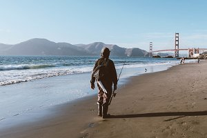 Beach Fisherman, San Francisco