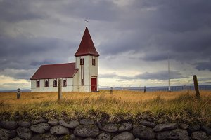 Church at Hellnar snaefellsnes