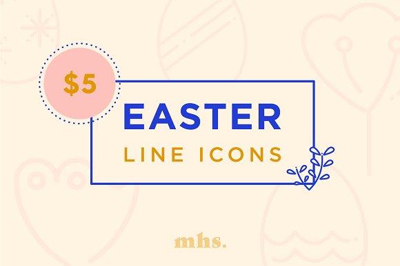 Easter Mono Line Icons