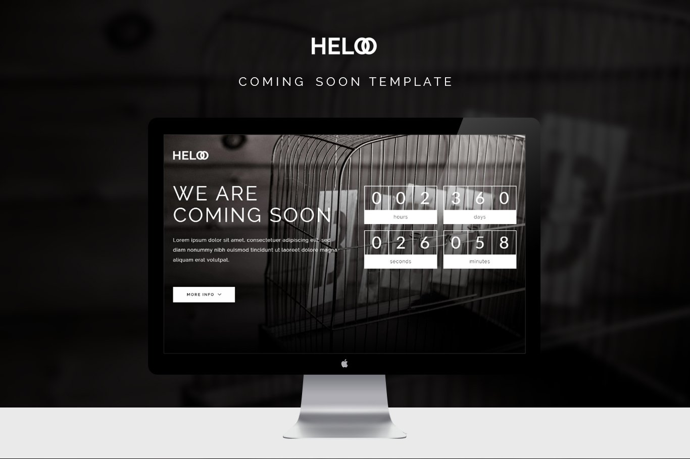 Heloo - Coming Soon Template ~ HTML/CSS Themes ~ Creative Market