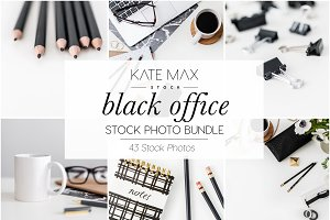 Black Office Stock Photo Bundle