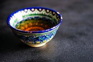 Tea in traditional Uzbek tea cups
