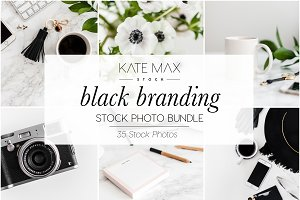 Black Branding Stock Photo Bundle