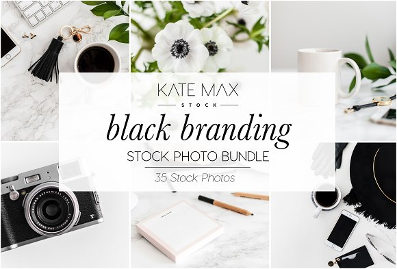 Black Branding Stock Photo Bundle