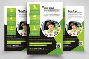 Driving School Flyer Print Templates