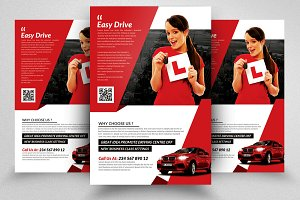 Driving Learning School Psd Flyer