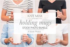 Holding Mugs Stock Photo Bundle