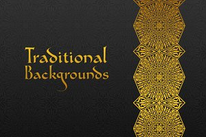 Set of Traditional Backgrounds