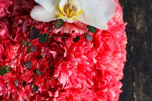 Carnation and orchid bouquet