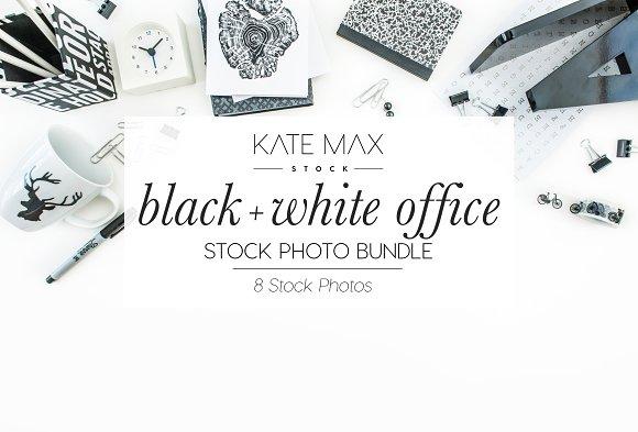 Black Office Stock Photo Bundle