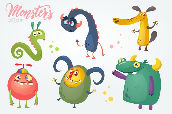 Cartoon Monster Characters