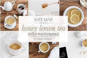 Honey Lemon Tea Stock Photo Bundle
