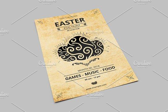 Vintage Easter Party Flyer-V775