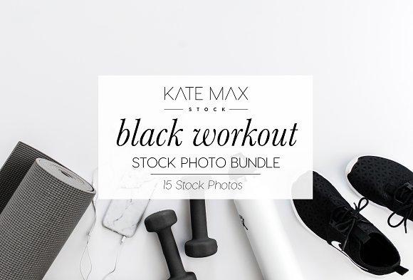 Black Workout Stock Photo Bundle