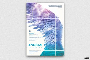 Angels in Heaven Flyer Template