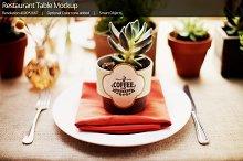 Restaurant Coffee table Mockup