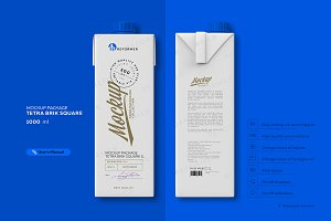 Mockup Package Tetra Brik Square 1L