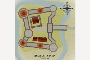 Medieval Castle Map