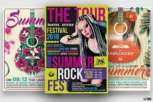 Summer Concerts Flyer Bundle