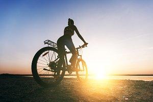 Beautiful girl on a bicycle