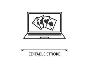Online casino linear icon