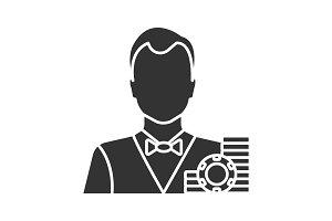 Croupier glyph icon