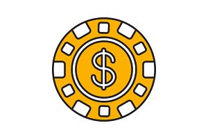 Casino chip color icon