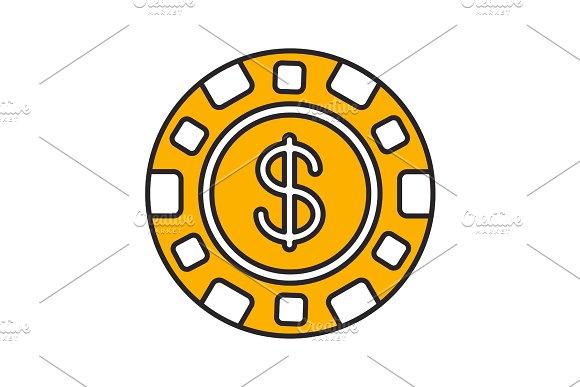 Casino Chip Color Icon