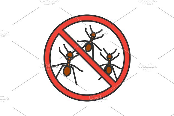 Stop Ants Sign Color Icon