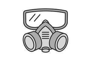 Respirator color icon