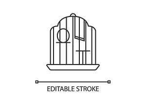 Birdcage linear icon