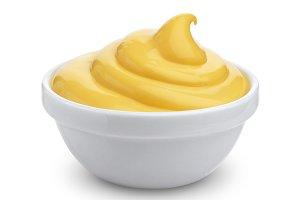 Mayonnaise isolated on white background
