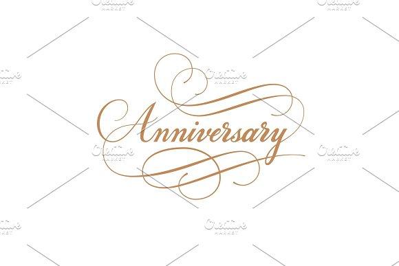 Anniversary Calligraphy Vector Inscription
