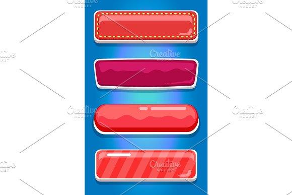 Creative UI Main Menu Interface Kit Vector Set