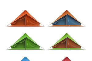 Tourist tents for travel and camping