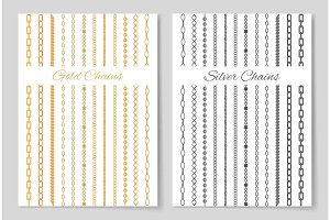 Silver and Gold Chains Promotional Posters Set