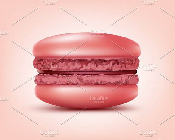 Vector Pink French Macaron