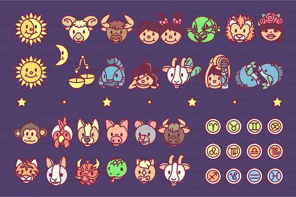 Vector Horosope Zodiac Graphics