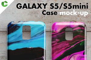 Galaxy S5/S5 mini case mock-up