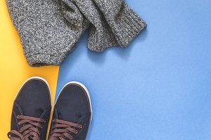 Sweater and sneakers