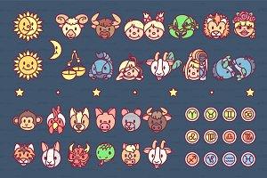 ♥ vector Horosope, Zodiac graphics