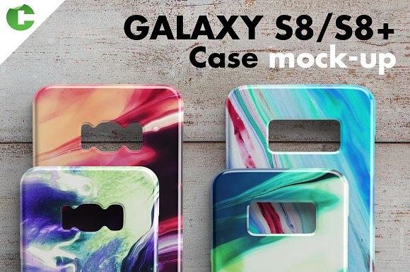 Free Galaxy S8/S8 + case mock-up