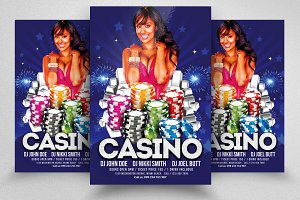 Casino Game Night Flyer Templates