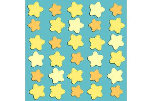 Cute background with stars as applique garland