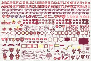 ♥ vector Valentine's day icons