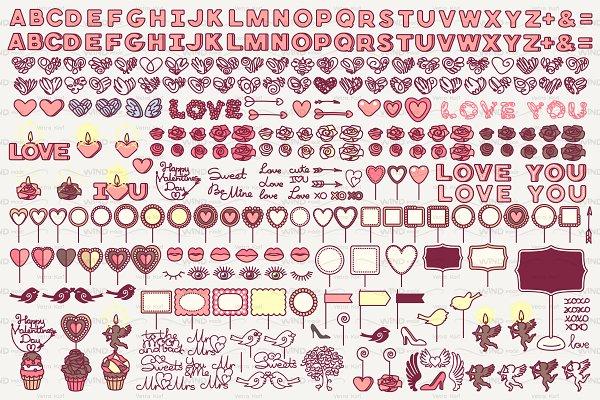 ♥ vector Valentine's day icons